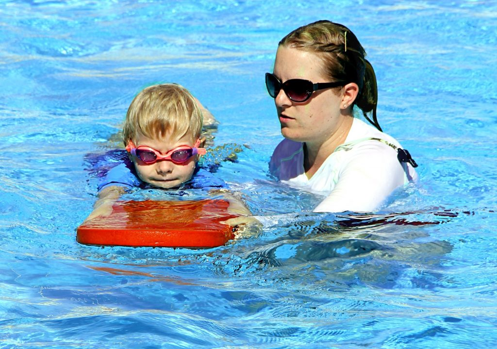 Aquatic safety training swim tests